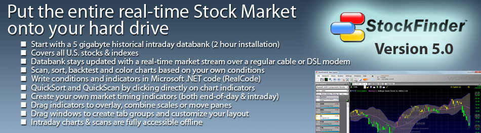 StockFinder® - Put the entire real-time stock market on your